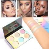 Buy 6Color Highlighter Face Powder Contour Kit Concealer Palette Makeup Tool Intl Cheap On Singapore