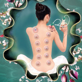 Review 1Set 12 Therapy Cups Set Chinese Medical Vacuum Cupping Therapy Suction Plastic Cups Body Cupping Set Cupping Massage Suction Pump Intl None