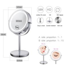 7 Inch Touch Activated Makeup Mirror 10X Magnifying Two Sided Dimmable Led Lighted Vanity Mirror Intl In Stock