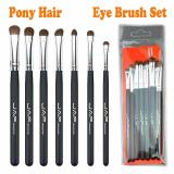Sale 7Pcs Pony Hair Eye Makeup Brush Set Cosmetics Make Up Brushes Eyebrow Eyes Concealer Pinceies Brush Set Black Intl Oem Online