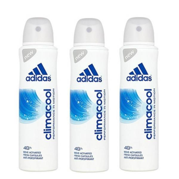 Buy ADIDAS CLIMACOOL DEO SPRAY (WOMAN) 150ML x 3 Qty Singapore