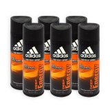 Adidas Men Body Spray Deep Energy 24H Deodorant 150Ml X 6 Bottles Compare Prices