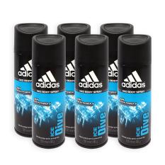 Sale Pack Of 6 Adidas Men Body Spray Ice Dive 24H Deodorant Spray 150Ml 7321 Online Singapore