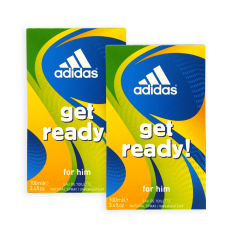 Pack Of 2 Adidas Men Edt Get Ready Edt Perfume 100Ml 4425 Singapore