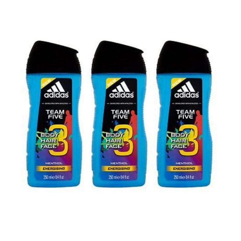Buy ADIDAS TEAM FIVE 3  IN 1 BODY, HAIR & FACE WASH 250ML x3 Qty Singapore