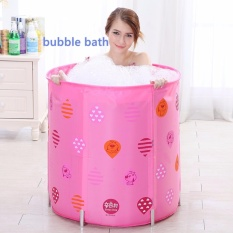 List Price *D*Lt Portable Folding Inflatable Bath Tub With Air Pump For Spa Milk Bath Petal Baths 5 Height Adjustment Pink Intl Oem