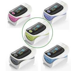 Sale Alarm Bp Fingertip Pulse Oximeter Blood Oxygen Saturation Spo2 Monitor With Lanyard Blue Oem Cheap