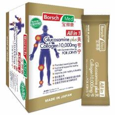 Price All In 1 Glucosamine Plus Collagen 10 000Mg With Chondroitin Rose Hip For Joints Sachet Borsch Med Singapore