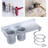Best Bathroom Metal Hair Dryer Shelf Toothbrush Rack Organizer Holder 2 Cups Intl