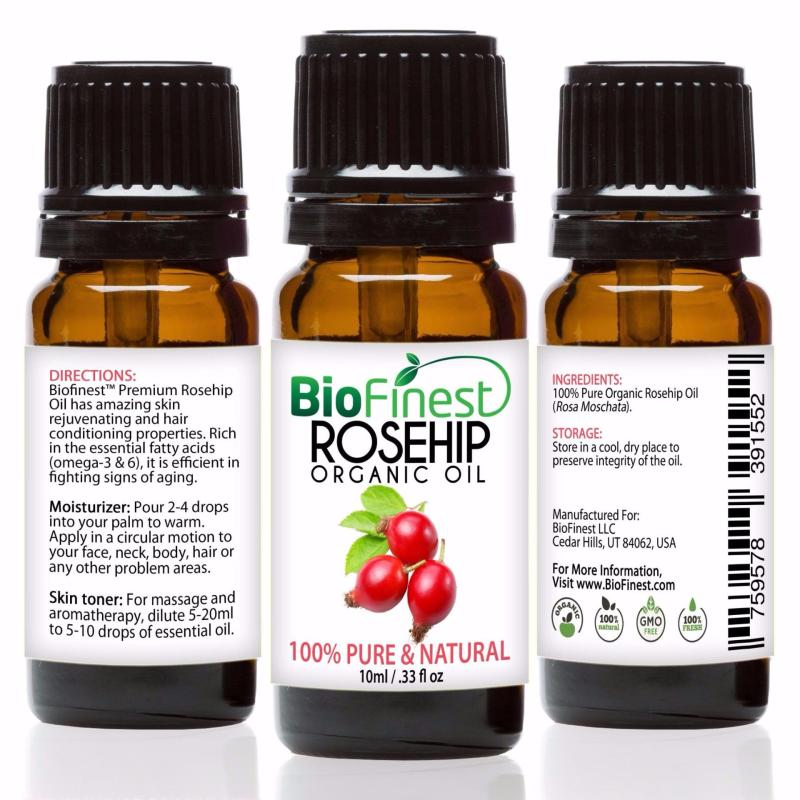 Buy Biofinest [2 Packs] Rosehip Organic Oil (100% Pure Organic Carrier Oil) 10ml Singapore
