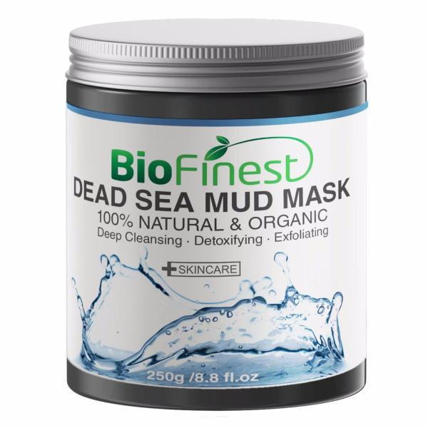 Buy Dead Sea Mud Mask - with Shea Butter, Aloe Vera, Collagen - Facial Pore Minimizer, Wrinkles Reducer, Pores Cleanser - 100% Organic (250g) Singapore