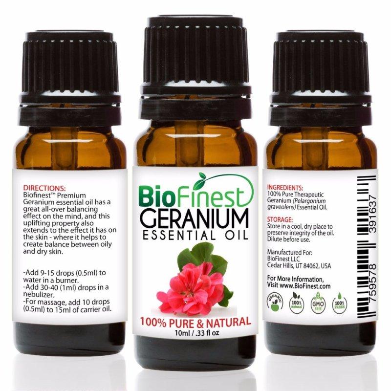 Buy Biofinest Geranium Essential Oil (100% Pure Therapeutic Grade) 10ml Singapore