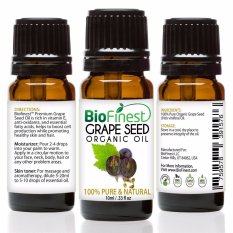 Brand New Biofinest Grapeseed Organic Oil 100 Pure Organic Carrier Oil 10Ml