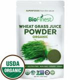 Shop For Biofinest Wheat Grass Juice Powder 100 Pure Freeze Dried Vitamin Chlorophyll Superfood Usda Certified Organic Raw Vegan Non Gmo Boost Digestion Detox Energy For Smoothie Beverage Blend 114G