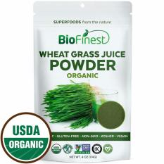 Best Offer Biofinest Wheat Grass Juice Powder 100 Pure Freeze Dried Vitamin Chlorophyll Superfood Usda Certified Organic Raw Vegan Non Gmo Boost Digestion Detox Energy For Smoothie Beverage Blend 114G