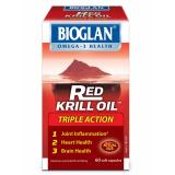Lowest Price Bioglan Red Krill Oil Triple Action 500Mg 60 Capsules