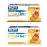 Sale Bioglan Throat Clear Honey Lemon 20 Lozenges 2Pcs Singapore Cheap