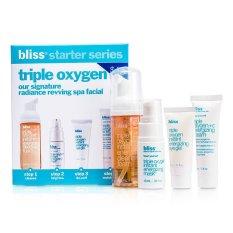 Promo Bliss Triple Oxygen Starter Kit Cleansing Foam 50Ml Mask 10Ml Eye Gel 5Ml Energizing Cream 15Ml 4Pcs