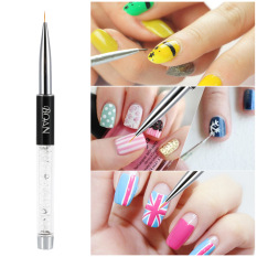 Bqan Nail Art Painting Brush 9mm Crystal Acrylic Nail Art Uv Gel Painting Line Brush Nylon Hair Pen Manicure Nail Liner Tool - Intl By Haitao.
