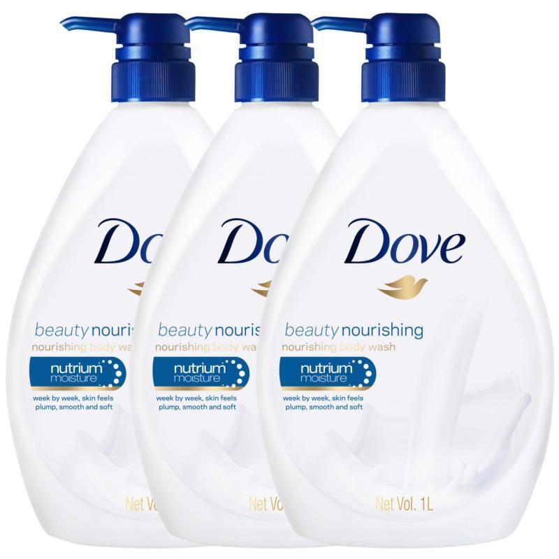 Buy [BUNDLE DEAL] 3 x Dove Bodywash Beauty Nourishing 1000ml Singapore