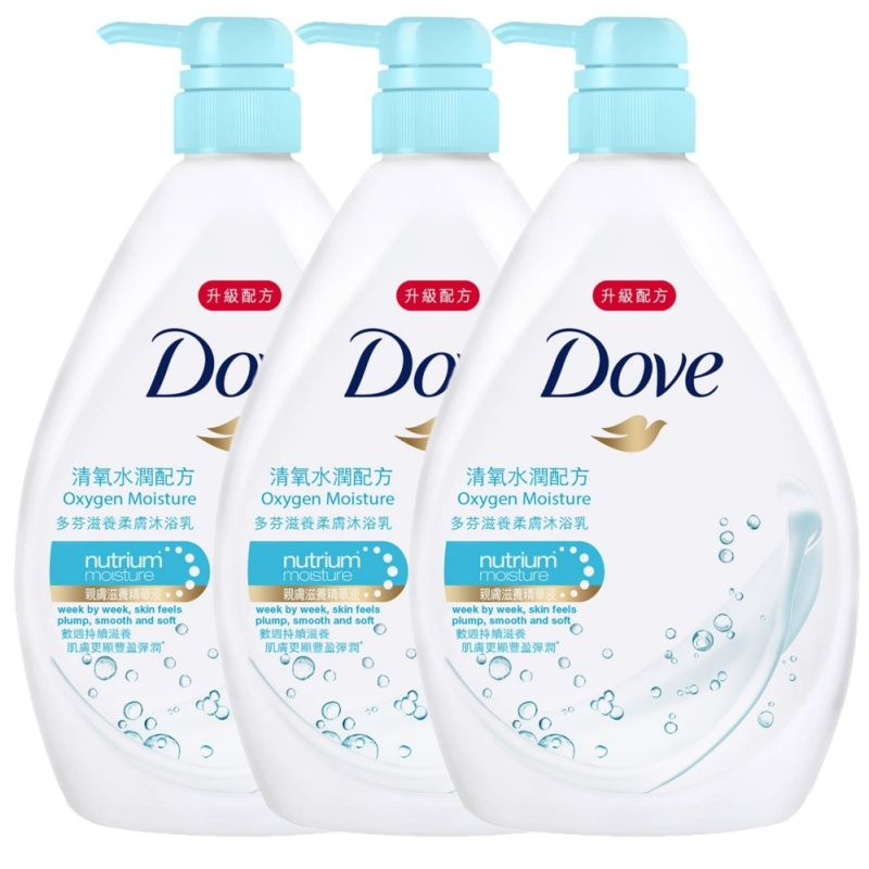 Buy [BUNDLE DEAL] 3x Dove Bodywash Go Fresh Nutrium Moisture Oxygen Moisture  (1000ml) Singapore