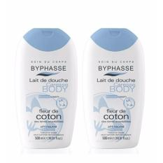 Buy Byphasse Cream Shower Cotton Extract 500Ml X2 Bottles Byphasse Original