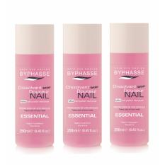Byphasse Nail Polish Remover (pink) 250ml X 3 Bottles By Beauty Language.