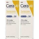 Get Cheap Cerave Body Lotion Sunscreen Spf 30 Net Wt 3 5 Oz 99 G Each Pack Of 2 Intl