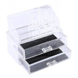Price Clear 2 Layers Cosmetic Drawers Makeup Jewelry Storage Display Organizer Box Lipstick Holder Stand Make Up Brush Eyeshadow Nail Varnish Polish Case Container Hong Kong Sar China