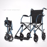Where To Shop For Cofoe Lightweight Folding Aluminum Alloy Portable Manual Wheelchair Blue Intl