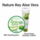 Combo Set Nature Key Aloe Vera Soothing Gel 300Ml Nature Key Aloe Vera Foam Cleanser 130G Cheap
