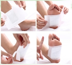 Discount Cyber 100 Patches Detox Foot Pads Remove Body Toxins Weight Loss Stress Relief White Intl