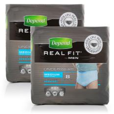 Depend Real Fit Underwear Men M/l 8pcs X2.