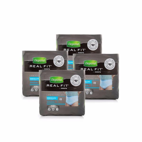 Buy DEPEND RealFit Underwear MALE M 8pcs x 4 Singapore