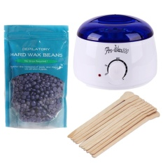 Depilatory Melting Wax Machine+10pcs Stick+100g Neutral Rose Wax Beans(white)-Us - Intl By Welcomehome.
