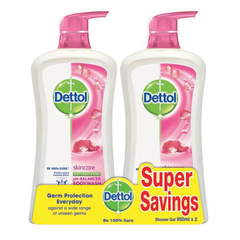 Buy Dettol Skincare Anti-Bacterial Body Wash Twin Pack (2 X 950ml) Singapore