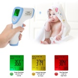 Best Price Digital Lcd Non Contact Ir Infrared Thermometer Forehead Body Surface Temperature Measurement Data Hold Function Blue Intl