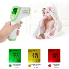 Sale Digital Lcd Non Contact Ir Infrared Thermometer Forehead Body Surface Temperature Measurement Data Hold Function Green Intl Oem Wholesaler