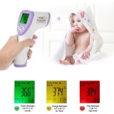 List Price Digital Lcd Non Contact Ir Infrared Thermometer Forehead Body Surface Temperature Measurement Data Hold Function Purple Intl Oem