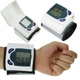Low Cost Digital Wrist Cuff Blood Pressure Monitor Heart Beat Rate Pulse Meter Measure Intl