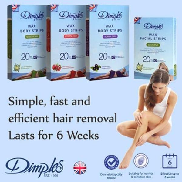Buy Dimples Facial Wax Strips (Sensitive Skin) Singapore