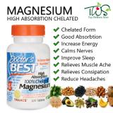 Doctors Best Magnesium High Absorption 100 Chelated 120 Tablets Review