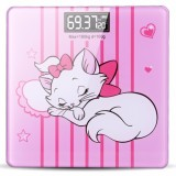 Cheap Dream Best Lovely Pink Cat Large Digital Night Glow Lcd Body Weight Weighing Scale With Temperature Intl
