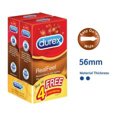 Compare Price Durex Condoms Real Feel 10 S Twin Pack Free 4 Pcs On Singapore
