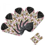 Dutchess Cloth Menstrual Pads Bamboo Reusable Sanitary Napkins Perfect For Heavy Flow Or Overnight 5 Pack Set With Double Layered Charcoal Absorbency Layer To Avoid Leaks Odors And … Intl Sale
