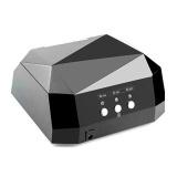 Best Offer Eachgo 36W Uv Lamp Nail Dryer Led Lamp Gel Diamond Shape Curing Polish Nail Art Tools Us Plug Black Intl