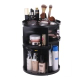 Price Efuture 360 Degree Rotation Plastic Holder Cosmetic Organizer Makeup Storage Rack Organizer For Gifts Jewelry Box Casket Black Intl Efuture