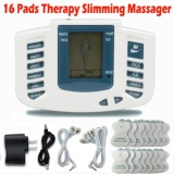 Mu Electrical Stimulator Full Body Relax Muscle Therapy Massagermassage Pulse Tens Acupuncture Health Care Slimming Machine 16Pads Intl Free Shipping