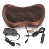 For Sale Electronic 6 Colorful Drives Car Massage Pillow Massager For Neck Back Relax Brown Intl