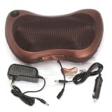 Review Electronic 6 Colorful Drives Car Massage Pillow Massager For Neck Back Relax Brown Intl Oem